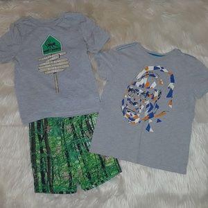 Gap Kids pajamas monkey shorts 6 Gorilla Shirt 5/6